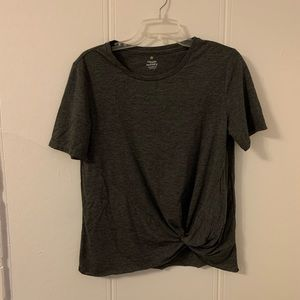Hippie Laundry Gray Knotted Blouse Size Medium
